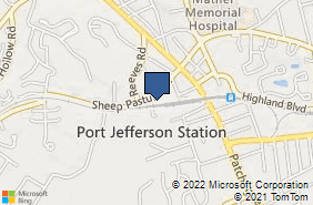 Bing Map of 38 Sheep Pasture Rd Port Jefferson, NY 11777