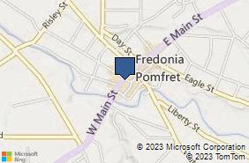 Bing Map of 38 W Main St Fredonia, NY 14063