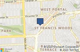 Bing Map of 380 West Portal Ave Ste D San Francisco, CA 94127
