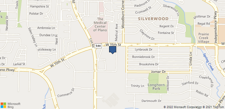 3800 W 15th St Plano, TX, 75075 Map