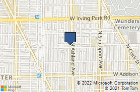 Bing Map of 3806 N Ashland Ave Chicago, IL 60613