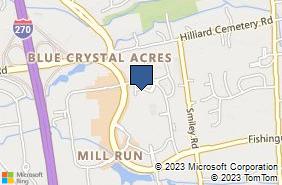 Bing Map of 3816 Fishinger Blvd Hilliard, OH 43026