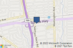 Bing Map of 3832 Sunrise Hwy Seaford, NY 11783