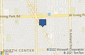 Bing Map of 3843 N Lincoln Ave Chicago, IL 60613