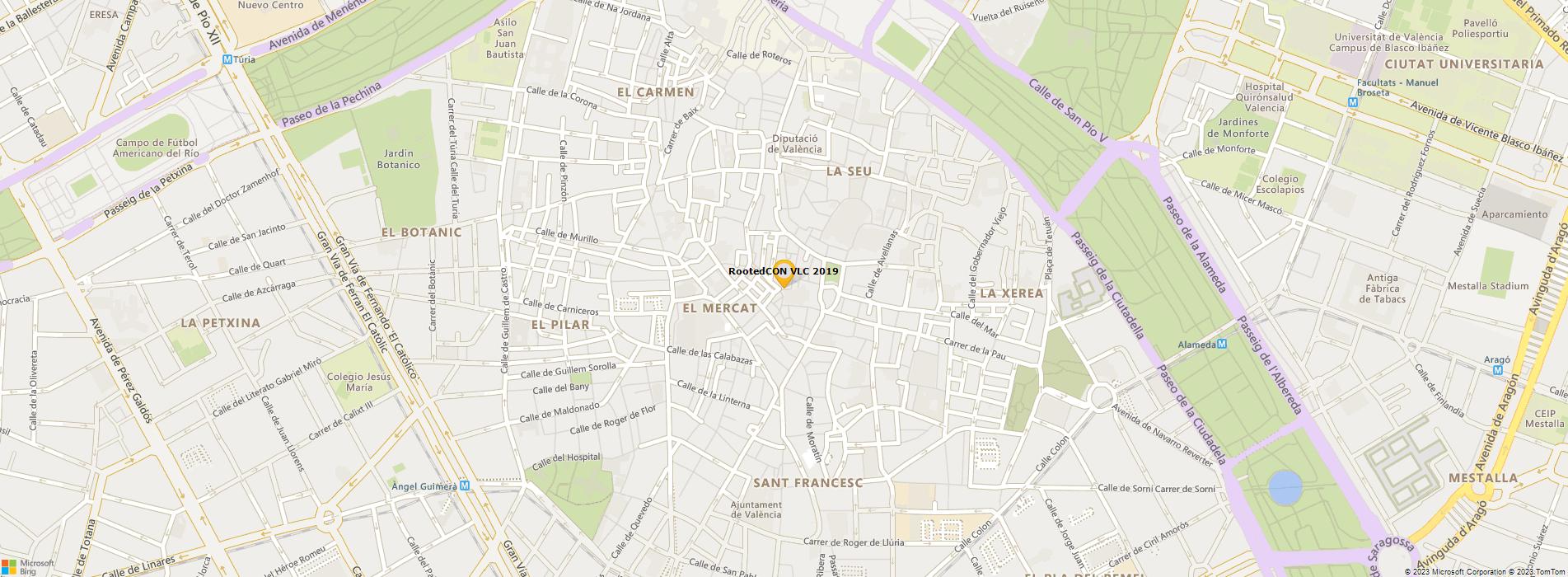 Bing Map of Kinepolis Ciudad de la Imágen, Madrid
