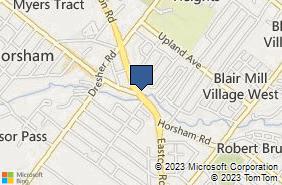 Bing Map of 390 Easton Rd Horsham, PA 19044