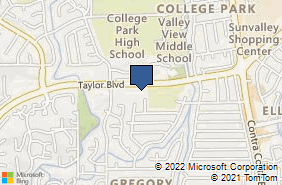 Bing Map of 391 Taylor Blvd Ste 150 Pleasant Hill, CA 94523