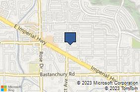 Bing Map of 3920 Prospect Ave Ste G Yorba Linda, CA 92886