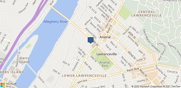 3937 Butler St Pittsburgh, PA, 15201 Map