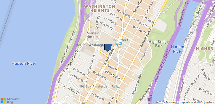 3959 Broadway New York, NY, 10032 Map