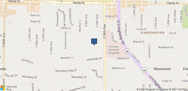 4 Medical Blvd Hattiesburg, MS, 39401 Map