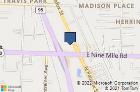 Bing Map of 40 W Nine Mile Rd Ste E Pensacola, FL 32534