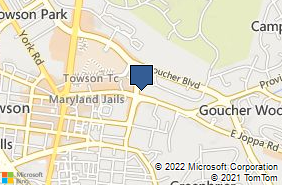 Bing Map of 400 E Joppa Rd Ste 200 Baltimore, MD 21286