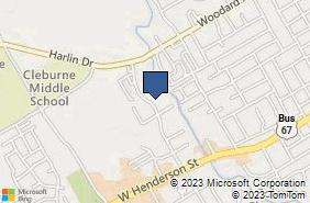 Bing Map of 400 N Ridgeway Dr Cleburne, TX 76033
