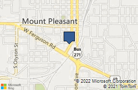 Bing Map of 400 S Madison Ave Mount Pleasant, TX 75455