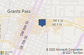 Bing Map of 400 Se G St Ste A Grants Pass, OR 97526
