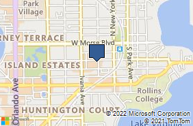 Bing Map of 400 W New Eng Ave Ste 1 Winter Park, FL 32789