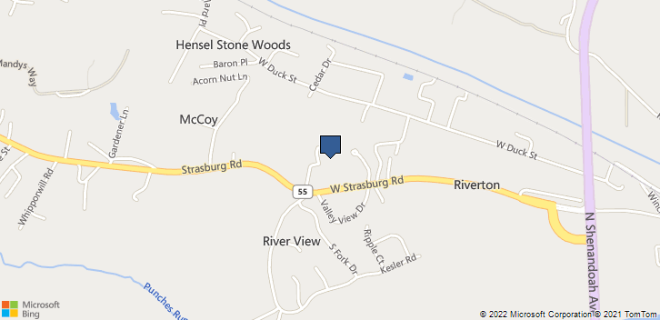 400 W Strasburg Rd Front Royal, VA, 22630 Map