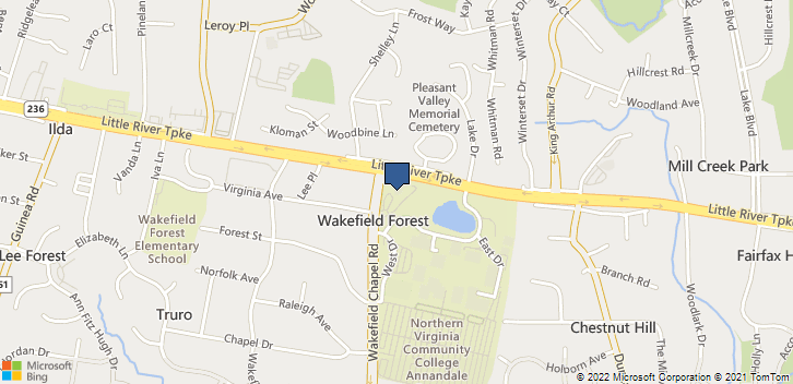 4001 Wakefield Chapel Road Annandale, VA, 22003 Map