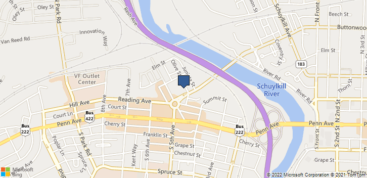 401 Buttonwood St Reading, PA, 19611 Map