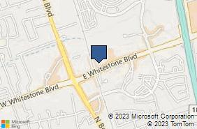 Bing Map of 401 E Whitestone Blvd Ste A102 Cedar Park, TX 78613