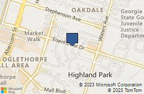 Bing Map of 401 Eisenhower Dr Savannah, GA 31406
