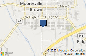Bing Map of 401 S Indiana St Ste B Mooresville, IN 46158