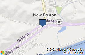 Bing Map of 4055 Rhodes Ave Ste 101 New Boston, OH 45662