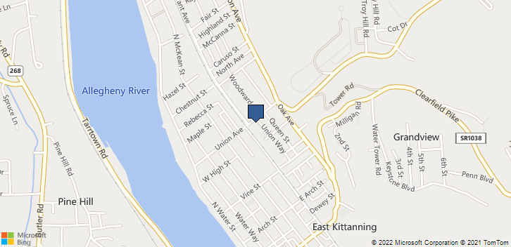 406 Union Ave. Kittanning, PA, 16201 Map