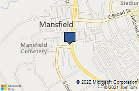Bing Map of 408 S Main St Ste A Mansfield, TX 76063