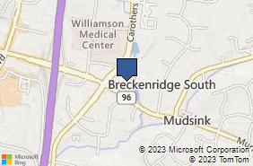 Bing Map of 4096 Carothers Pkwy Ste 8 Franklin, TN 37067