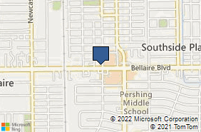 Bing Map of 4108 Bellaire Blvd Houston, TX 77025