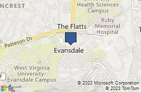 Bing Map of 411 Oakland St Morgantown, WV 26505