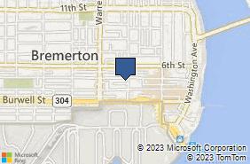 Bing Map of 411 Park Ave Ste B Bremerton, WA 98337