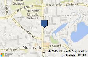 Bing Map of 414 North Ctr Northville, MI 48167
