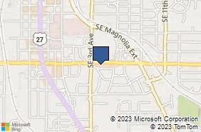 Bing Map of 415 Se 17th Pl Ocala, FL 34471