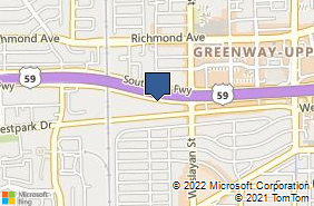 Bing Map of 4151 Southwest Fwy Ste 395 Houston, TX 77027