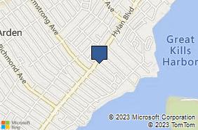 Bing Map of 4156 Hylan Blvd Staten Island, NY 10308