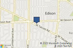 Bing Map of 416 W Talcott Rd Park Ridge, IL 60068