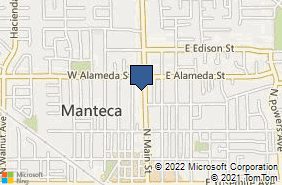 Bing Map of 419 N Main St Manteca, CA 95336
