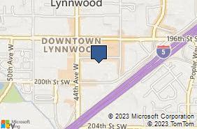 Bing Map of 4202 198th St Sw Ste 1 Lynnwood, WA 98036