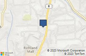 Bing Map of 4204 E Ewalt Rd Gibsonia, PA 15044