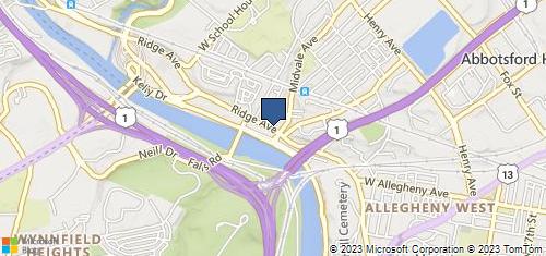 Bing Map of 4223 Ridge Ave Philadelphia, PA 19129