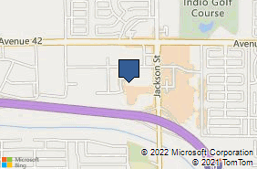 Bing Map of 42425 Jackson St Ste C104 Indio, CA 92203