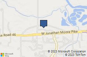 Bing Map of 4260 W Jonathan Moore Pike Columbus, IN 47201