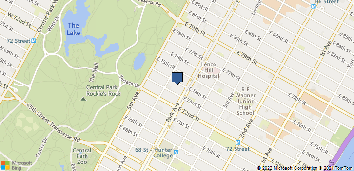 42A East 74th Street New York, NY, 10021 Map