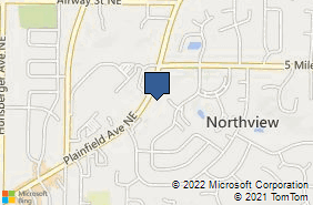 Bing Map of 4300 Plainfield Ave Ne Ste C Grand Rapids, MI 49525