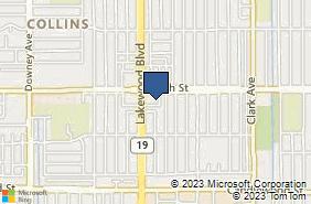 Bing Map of 4326 South St Lakewood, CA 90712
