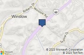 Bing Map of 4332 13th St Unit 1 Ashland, KY 41102