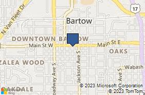 Bing Map of 435 E Main St Bartow, FL 33830
